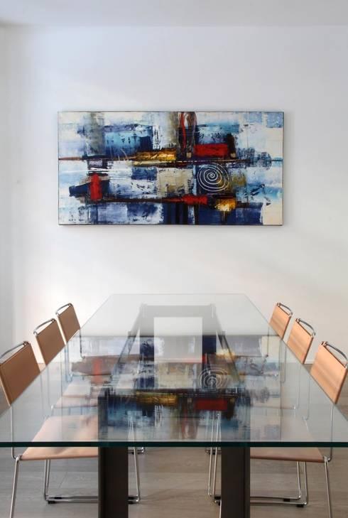 PRANZO _particolare: Sala da pranzo in stile in stile Minimalista di T+T ARCHITETTURA