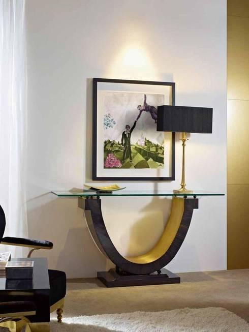 Consola Art Decó Eyon: Vestíbulos, pasillos y escaleras de estilo  de Ámbar Muebles