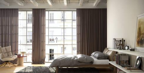 Cortinas para dormitorio - Kaaten: Dormitorios de estilo clásico de Kaaten