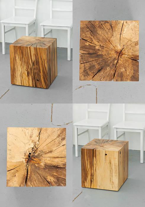 Lawinenholzwürfel Bergbuche hinterer Kraxenbach #1:  Wohnzimmer von Holzgeschichten