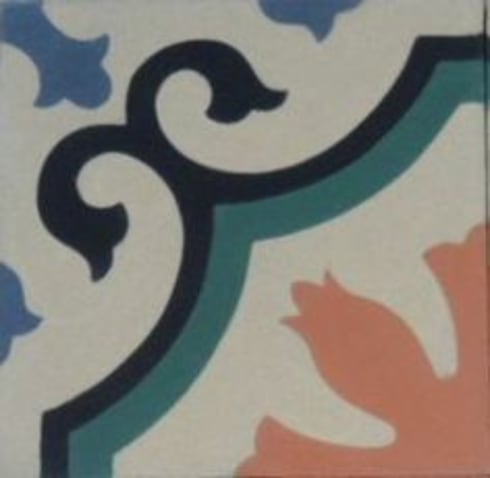 Suelo Hidráulico – Floral:  de estilo  de Suelos Hidráulicos Demosaica