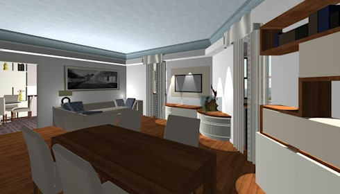 giochi di luci nel soggiorno di studio design d\'interni Frigerio ...
