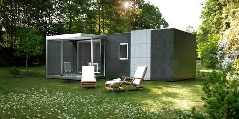 Cube Basic de 36 m2: Casas prefabricadas de estilo  de Casas Cube