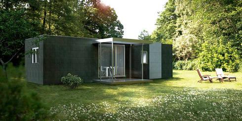 Cube Basic de 50 m2: Casas prefabricadas de estilo  de Casas Cube
