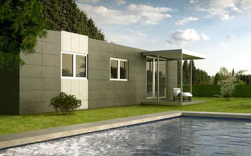 Cube Basic de 75 m2: Casas prefabricadas de estilo  de Casas Cube