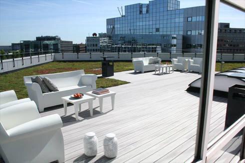 Dakterras kantoorgebouw Amsterdam:  Kantoorgebouwen door By Lenny