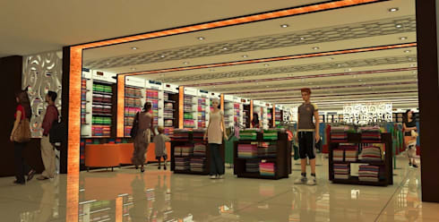 Retail Interiors:  Commercial Spaces by MRN Associates