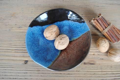 Ayşe Şakarcan Ceramics – 3 Renkli Tabak:  tarz İç Dekorasyon