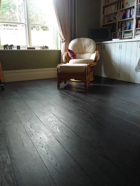 غرفة المعيشة تنفيذ Chaunceys Timber Flooring