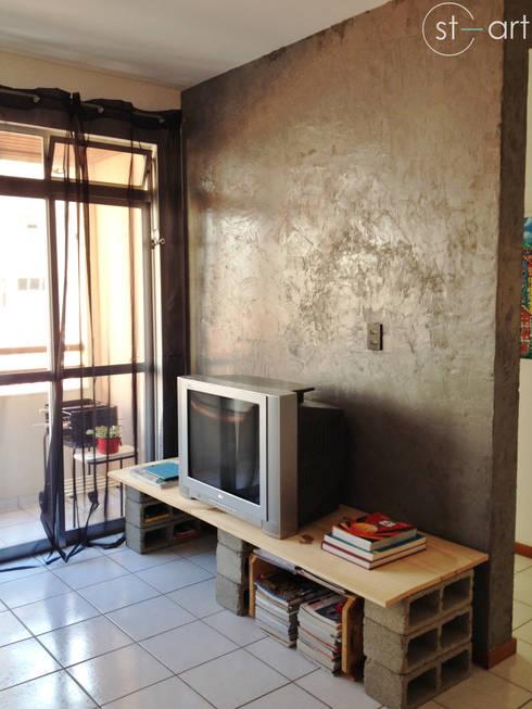 Cara nova para sala de estar: Salas de estar modernas por start.arch architettura