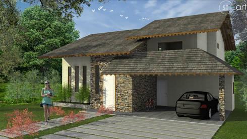 Casa FGA: Casas modernas por start.arch architettura