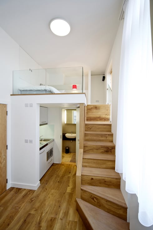 Student Accommodation - SW10:  Corridor & hallway by Ceetoo Architects