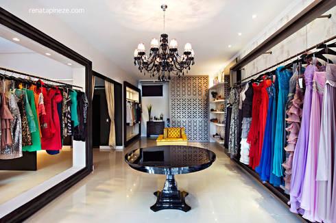 Consuelo Comelli Boutique de Vestidos: Lojas e imóveis comerciais  por Rafaela Dal'Maso Arquitetura