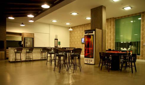 Salão de festas: Casas modernas por Daniela Vieira Arquitetura