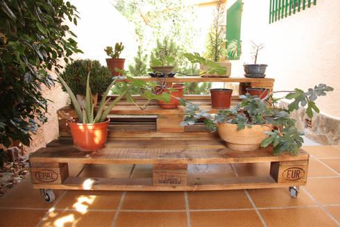 MARBORÉ jardinera palets. 120x80cm, 3 alturas: Jardín de estilo  de ECOdECO Mobiliario