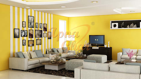 Drawing Room Interior Design by ApnaGhar.co.in | homify