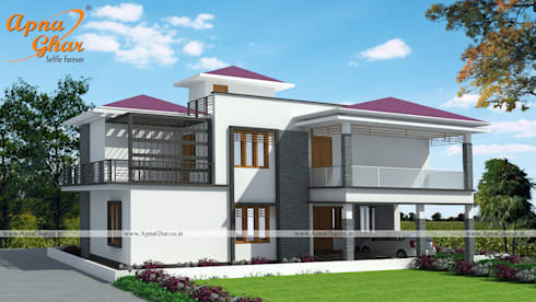 Duplex House Design by ApnaGharcoin homify