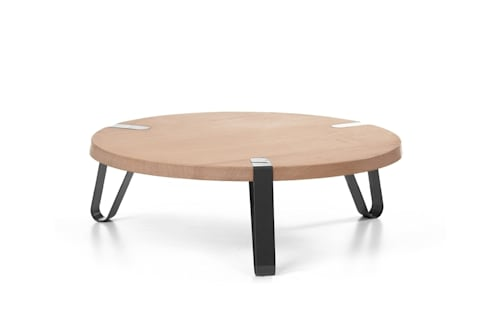 Level Zwart - Ø70cm - Hoogte 23cm : moderne Woonkamer door DesignStudioVandaag