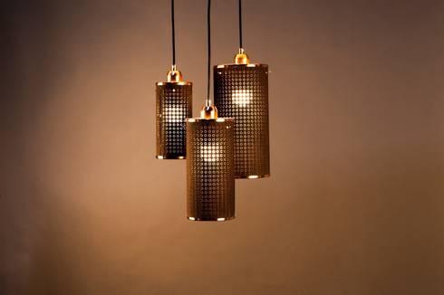 Sparkle serie - Ø100x200mm/Ø125x250mm/Ø150x300mm - Wenge/Koper: moderne Woonkamer door DesignStudioVandaag