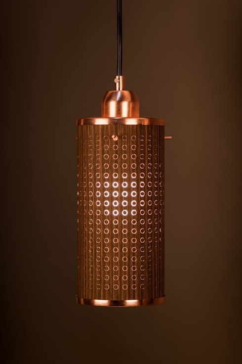 Sparkle100 - Ø100x200mm - Wenge/Koper: moderne Woonkamer door DesignStudioVandaag