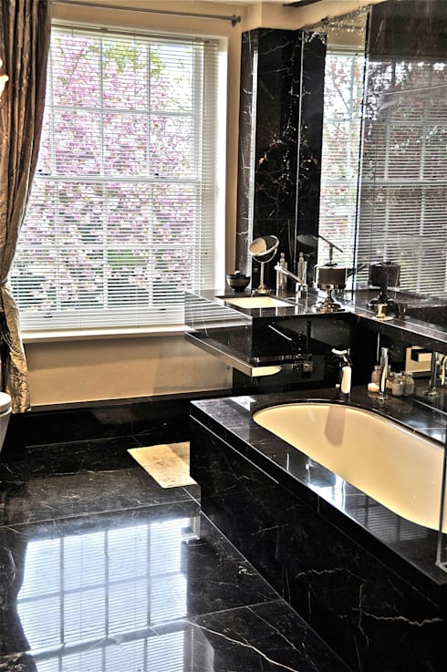 Black Marble Bathroom, Orset:  Bathroom by Ogle luxury Kitchens & Bathrooms