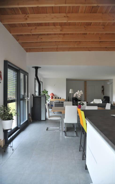 maison ossature bois lentilly por bfg cadre de vie homify. Black Bedroom Furniture Sets. Home Design Ideas