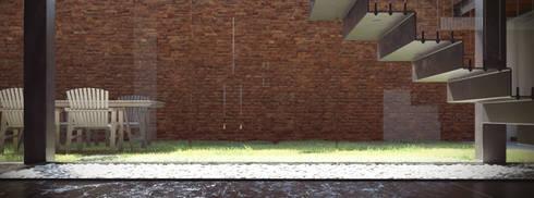 Detalle Escalera:  de estilo  por PMarquitectura