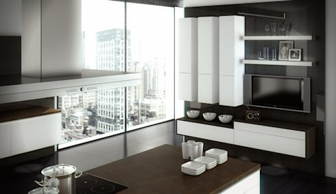 floating kitchen von st rmer k chen homify. Black Bedroom Furniture Sets. Home Design Ideas