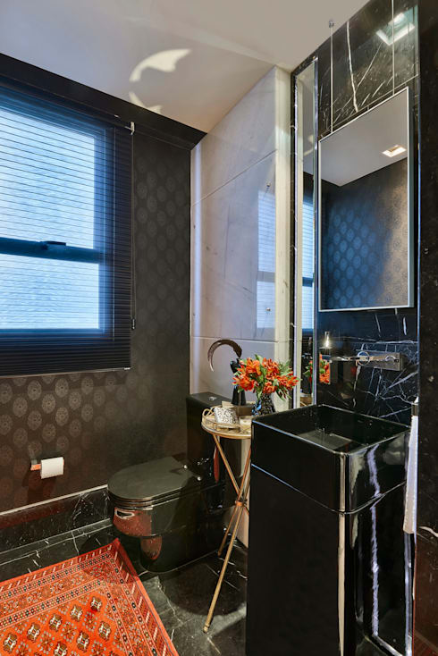 Baños de estilo  de Gislene Lopes Arquitetura e Design de Interiores