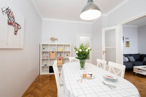 JADALNIA PO METAMORFOZIE: styl , w kategorii Jadalnia zaprojektowany przez Better Home