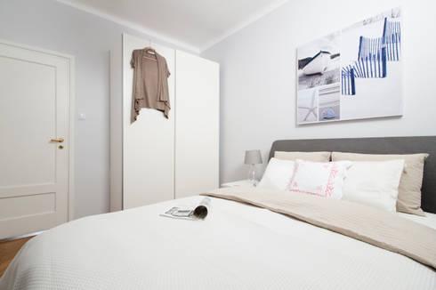 SYPIALNIA PO METAMORFOZIE: styl , w kategorii Sypialnia zaprojektowany przez Better Home