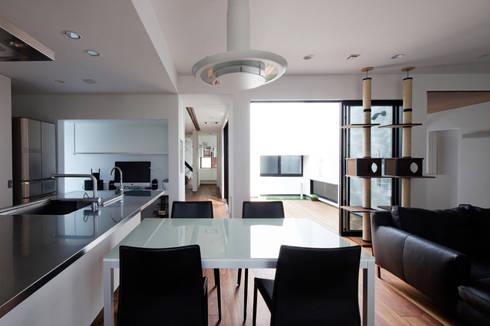 高松の家-oyamaya-: タカオジュン建築設計事務所-JUNTAKAO.ARCHITECTS-が手掛けたダイニングです。