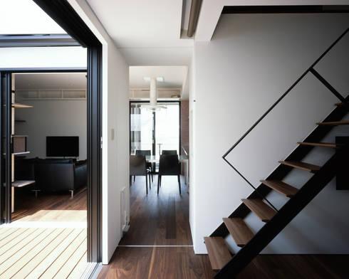 高松の家-oyamaya-: タカオジュン建築設計事務所-JUNTAKAO.ARCHITECTS-が手掛けた寝室です。