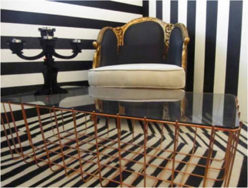 Tienda de interiores Otilia Kitsch: Oficinas y tiendas de estilo  por Ok Designs