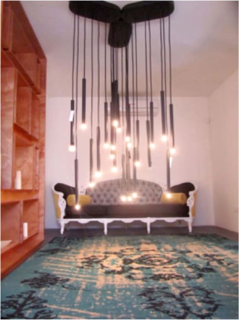 Showroom Otilia Kitsch: Salas de estilo ecléctico por Ok Designs