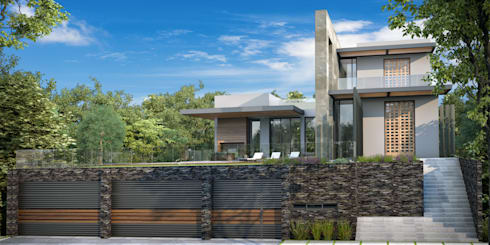 SAN PATRICIO: Casas de estilo moderno por GGF Capital Arquitectonica