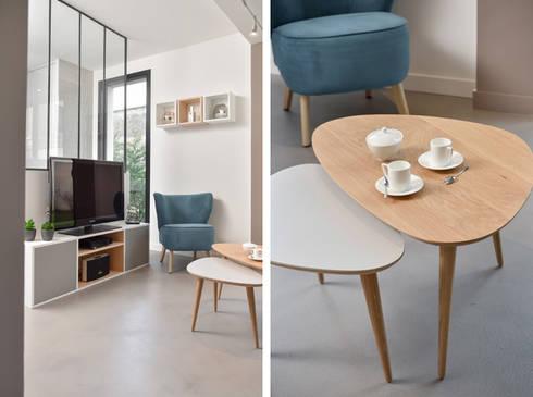 Aménagement d\'une pièce à vivre dans une maison à Lyon 08 by ...