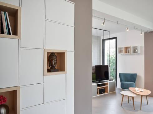 Aménagement d\'une pièce à vivre dans une maison à Lyon 08 par ...