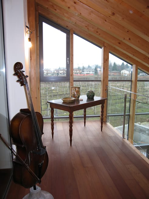 casa C: Giardino d'inverno in stile  di Giuseppe Maria Padoan bioarchitetto - casarmonia progetti e servizi