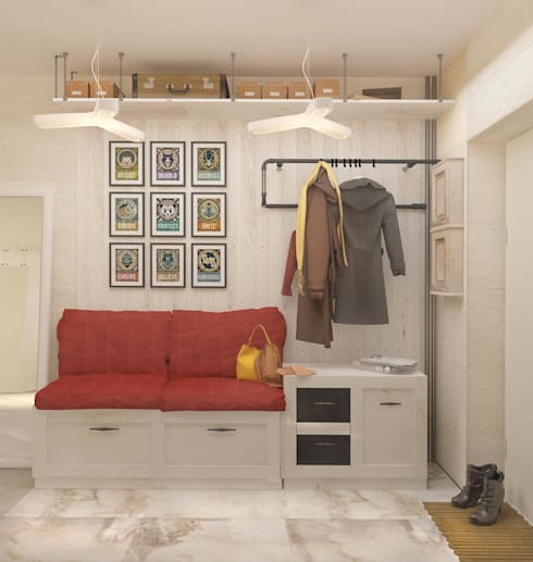 Современная квартира для молодой пары: Коридор и прихожая в . Автор – Katerina Butenko