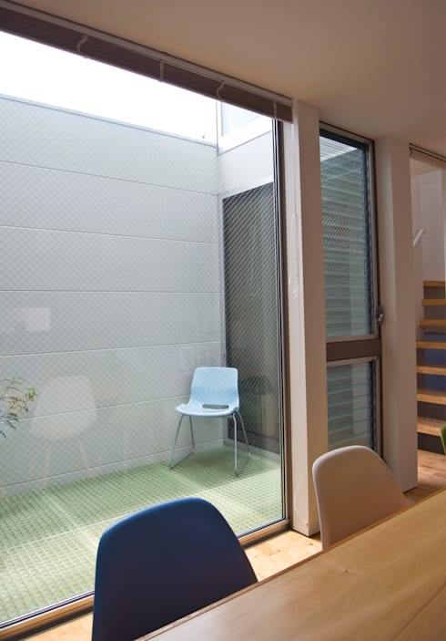 上目黒の家: Studio R1 Architects Officeが手掛けたベランダです。