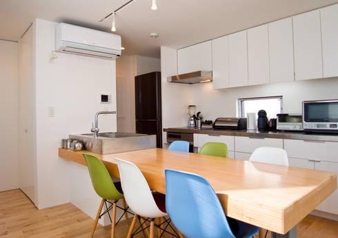 上目黒の家: Studio R1 Architects Officeが手掛けたキッチンです。