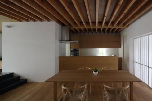 高岡の家: 深山知子一級建築士事務所・アトリエレトノが手掛けたダイニングです。