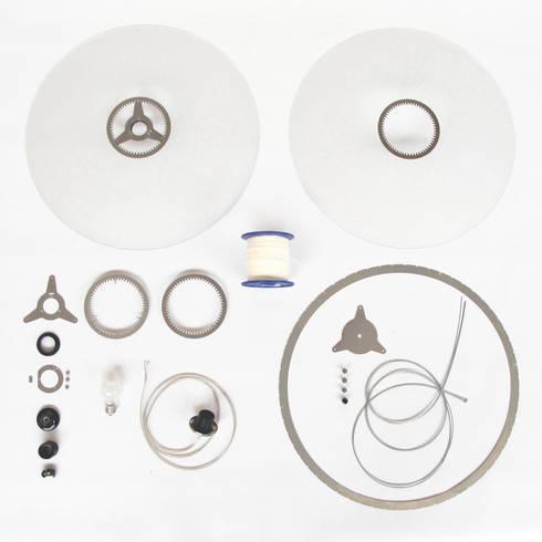 Onderdelen Disque hanglamp: moderne Woonkamer door Marc Th. van der Voorn