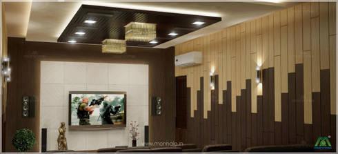Home theatre: modern Media room by Monnaie Interiors Pvt Ltd