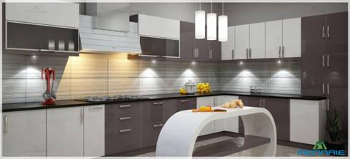 Kitchen Interior Design: modern Kitchen by Monnaie Interiors Pvt Ltd