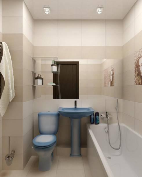 Дизайн 1-комнатной квартиры в Санкт-Петербурге: Ванные комнаты в . Автор – Дизайн студия 'Exmod' Павел Цунев