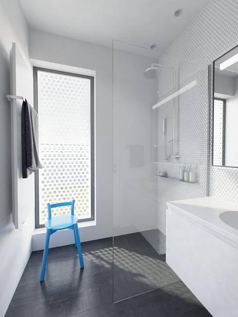 Baños de estilo minimalista de INT2architecture