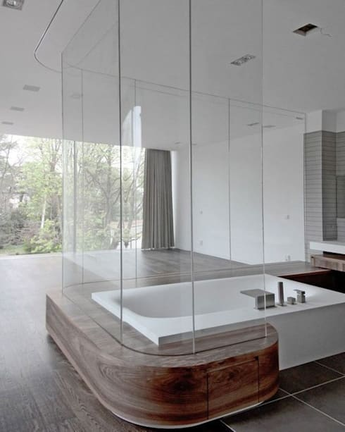 modern Bathroom by HS Architekten BDA