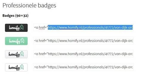 4. Hoe kan ik mijn badge aanpassen?:   door homify help